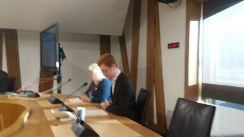 Cllr Audrey Doig and Ross Greer MSP