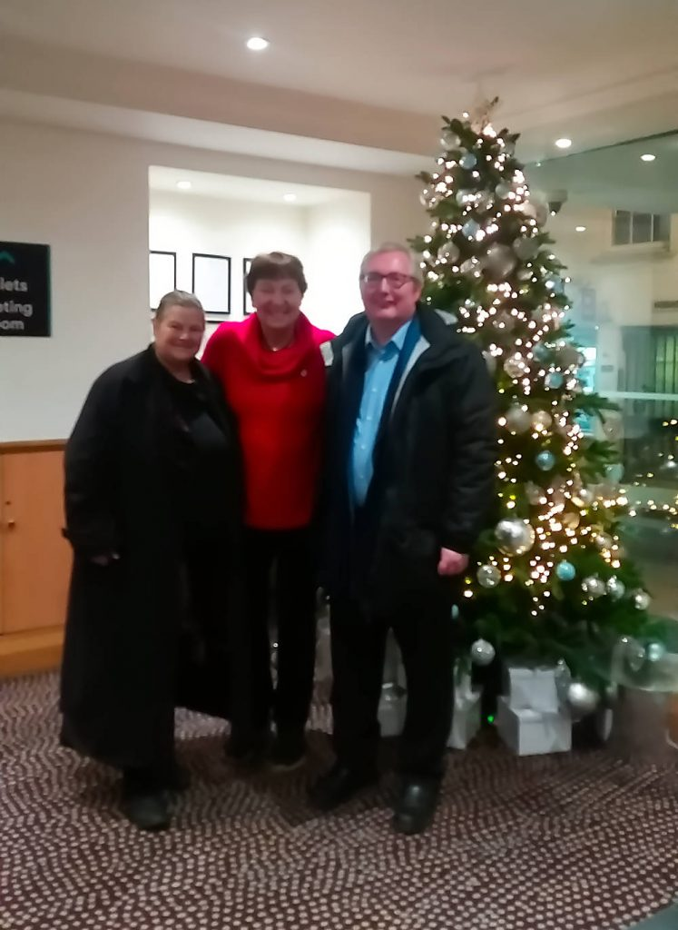 Rebecca Johnson, ICAN UK, Mayor Marianne Borgen of Oslo and Sean Morris, NFLA