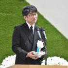 The Mayor of Nagasaki reading the Nagasaki Peace Declaration (source City of Nagasaki)
