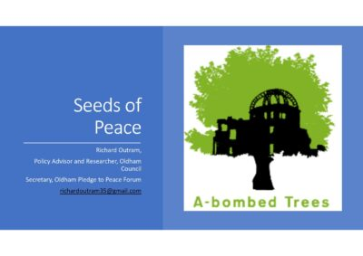 Oldham's gingko seeds peace project