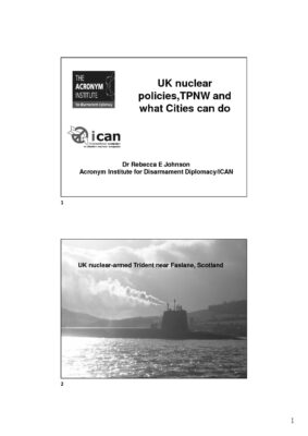 UK nuclear policies,TPNW and what Cities can do