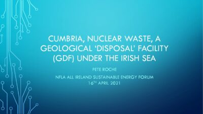 Cumbria, nuclear waste and the risks of a repository under the Irish Sea