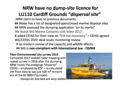 Issues of concern with the Cardiff Deep Grounds mud dump