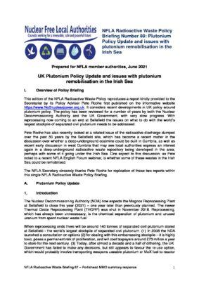 NFLA Radioactive Waste Policy Briefing Number 88