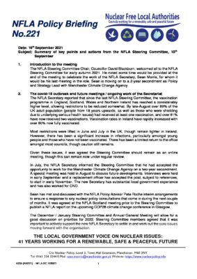 NFLA Policy Briefing 221